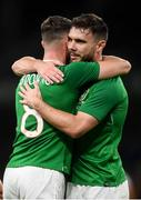 10 September 2019; Alan Browne is congratulated by his Republic of Ireland team-mate Scott Hogan after scoring his side's opening goal during the 3 International Friendly match between Republic of Ireland and Bulgaria at Aviva Stadium, Lansdowne Road in Dublin. Photo by Stephen McCarthy/Sportsfile