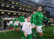 10 September 2019; Josh Cullen of Republic of Ireland during the 3 International Friendly match between Republic of Ireland and Bulgaria at Aviva Stadium, Lansdowne Road in Dublin. Photo by Stephen McCarthy/Sportsfile