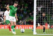 10 September 2019; Alan Browne of Republic of Ireland  scores his side's first goal during the 3 International Friendly match between Republic of Ireland and Bulgaria at Aviva Stadium, Lansdowne Road in Dublin. Photo by Stephen McCarthy/Sportsfile