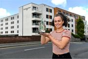 11 September 2019; Emma Duggan of Meath is pictured with The Croke Park / LGFA Player of the Month award for August, at The Croke Park in Jones Road, Dublin. Emma was in sparkling form for TG4 All-Ireland Finalists Meath during the month of August, scoring 3-2 against Wexford in the All-Ireland quarter-final, before contributing 1-5 in the semi-final victory over Roscommon. Emma and Meath are preparing for next Sunday's Final against Tipperary at Croke Park. Photo by Piaras Ó Mídheach/Sportsfile