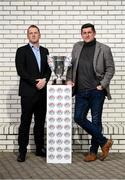 11 September 2019; Dundalk head coach Vinny Perth and Derry City manager Declan Devine in attendance during the EA SPORTS Cup Final Media Day at FAI Headquarters in Abbotstown, Dublin. Photo by Stephen McCarthy/Sportsfile