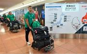 12 September 2019; Rob Kearney of Ireland on the squad's arrival in Hanada Airport in Tokyo ahead of the 2019 Rugby World Cup in Japan. Photo by Brendan Moran/Sportsfile