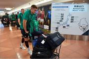 12 September 2019; Garry Ringrose of Ireland on the squad's arrival in Hanada Airport in Tokyo ahead of the 2019 Rugby World Cup in Japan. Photo by Brendan Moran/Sportsfile