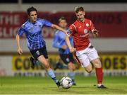 7 September 2019; Brian Morley of Sligo Rovers in action against Evan Farrell of UCD during the Extra.ie FAI Cup Quarter-Final match between Sligo Rovers and UCD at The Showgrounds in Sligo. Photo by Oliver McVeigh/Sportsfile