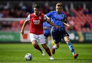 13 September 2019; Dean Clarke of St Patricks Athletic in action against Paul Doyle of UCD during the SSE Airtricity League Premier Division match between St Patrick's Athletic and UCD at Richmond Park in Dublin.  Photo by Sam Barnes/Sportsfile