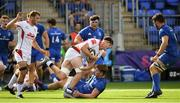 14 September 2019; David McCann of Ulster A is tackled by Brian Deeny of Leinster A during the Celtic Cup match between Leinster A and Ulster A at Energia Park in Donnybrook, Dublin. Photo by Ramsey Cardy/Sportsfile