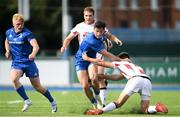 14 September 2019; Andrew Smith of Leinster A is tackled by Ethan McIlroy of Ulster A during the Celtic Cup match between Leinster A and Ulster A at Energia Park in Donnybrook, Dublin. Photo by Ramsey Cardy/Sportsfile