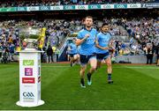 14 September 2019; Jack McCaffrey, left, with, Cian O'Sullivan of Dublin take to the field prior to the GAA Football All-Ireland Senior Championship Final Replay match between Dublin and Kerry at Croke Park in Dublin. Photo by Seb Daly/Sportsfile