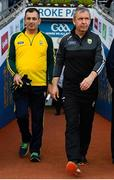 14 September 2019; Kerry manager Peter Keane, right, prior to the GAA Football All-Ireland Senior Championship Final Replay match between Dublin and Kerry at Croke Park in Dublin. Photo by Seb Daly/Sportsfile