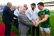 14 September 2019; President Michael D. Higgins meets Kerry captain Paul Murphy prior to the GAA Football All-Ireland Senior Championship Final Replay match between Dublin and Kerry at Croke Park in Dublin. Photo by Seb Daly/Sportsfile