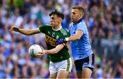14 September 2019; David Clifford of Kerry in action against Jonny Cooper of Dublin during the GAA Football All-Ireland Senior Championship Final Replay match between Dublin and Kerry at Croke Park in Dublin. Photo by David Fitzgerald/Sportsfile