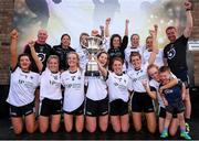 14 September 2019; Emyvale, Co Monaghan players with the Senior Championship Final trophy after they beat The Banner, Co Clare during the 2019 LGFA All-Ireland Club 7s at Naomh Mearnóg & St Sylvesters in Dublin. Photo by Michael P Ryan/Sportsfile