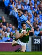 14 September 2019; Brian Ó Beaglaoich of Kerry in action against Brian Fenton of Dublin during the GAA Football All-Ireland Senior Championship Final Replay match between Dublin and Kerry at Croke Park in Dublin. Photo by David Fitzgerald/Sportsfile