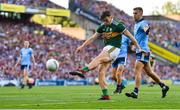 14 September 2019; David Clifford of Kerry takes a shot on goal despite the attentions of Jonny Cooper of Dublin during the GAA Football All-Ireland Senior Championship Final Replay match between Dublin and Kerry at Croke Park in Dublin. Photo by Sam Barnes/Sportsfile