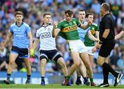 14 September 2019; David Clifford of Kerry tussles with Stephen Cluxton of Dublin during the GAA Football All-Ireland Senior Championship Final Replay match between Dublin and Kerry at Croke Park in Dublin. Photo by Ramsey Cardy/Sportsfile