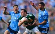 14 September 2019; David Moran of Kerry in action against David Byrne, left, and James McCarthy of Dublin during the GAA Football All-Ireland Senior Championship Final Replay match between Dublin and Kerry at Croke Park in Dublin. Photo by Sam Barnes/Sportsfile