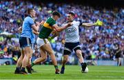 14 September 2019; David Clifford of Kerry and Stephen Cluxton of Dublin tussle off the ball  during the GAA Football All-Ireland Senior Championship Final Replay match between Dublin and Kerry at Croke Park in Dublin. Photo by Sam Barnes/Sportsfile