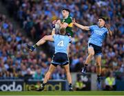 14 September 2019; Paul Geaney of Kerry in action against David Byrne, right, and Jonny Cooper of Dublin during the GAA Football All-Ireland Senior Championship Final Replay between Dublin and Kerry at Croke Park in Dublin. Photo by Stephen McCarthy/Sportsfile
