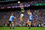 14 September 2019; Paul Geaney of Kerry in action against Jonny Cooper of Dublin, left and David Byrne of Dublin during the GAA Football All-Ireland Senior Championship Final Replay match between Dublin and Kerry at Croke Park in Dublin. Photo by Seb Daly/Sportsfile