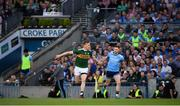 14 September 2019; Tommy Walsh of Kerry and Philly McMahon of Dublin come onto the pitch during the GAA Football All-Ireland Senior Championship Final Replay between Dublin and Kerry at Croke Park in Dublin. Photo by Stephen McCarthy/Sportsfile