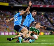 14 September 2019; Tommy Walsh of Kerry in action against Philip McMahon, left and Brian Fenton of Dublin during the GAA Football All-Ireland Senior Championship Final Replay match between Dublin and Kerry at Croke Park in Dublin. Photo by Seb Daly/Sportsfile