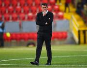 14 September 2019; Derry City manager Declan Devine before the EA Sports Cup Final match between Derry City and Dundalk at Ryan McBride Brandywell Stadium in Derry. Photo by Oliver McVeigh/Sportsfile