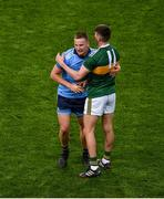 14 September 2019; Ciarán Kilkenny of Dublin shakes hands with Seán O'Shea of Kerry after the GAA Football All-Ireland Senior Championship Final Replay match between Dublin and Kerry at Croke Park in Dublin. Photo by Daire Brennan/Sportsfile