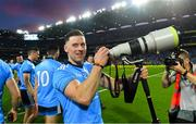 14 September 2019; Philip McMahon of Dublin tries some photography after the GAA Football All-Ireland Senior Championship Final Replay between Dublin and Kerry at Croke Park in Dublin. Photo by Piaras Ó Mídheach/Sportsfile
