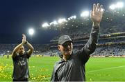 14 September 2019; Dublin manager Jim Gavin, right, and selector Jason Sherlock wave to supporters after the GAA Football All-Ireland Senior Championship Final Replay between Dublin and Kerry at Croke Park in Dublin. Photo by Piaras Ó Mídheach/Sportsfile