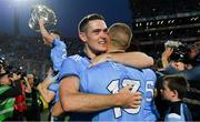 14 September 2019; Dublin players Brian Fenton, left, and Paul Mannion celebrate after the GAA Football All-Ireland Senior Championship Final Replay between Dublin and Kerry at Croke Park in Dublin. Photo by Piaras Ó Mídheach/Sportsfile