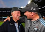 14 September 2019; Dublin manager Jim Gavin with his father Jimmy following the GAA Football All-Ireland Senior Championship Final Replay match between Dublin and Kerry at Croke Park in Dublin. Photo by Eóin Noonan/Sportsfile