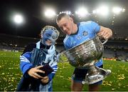 14 September 2019; 10-year-old Dublin supporter Grace Dorman with Con O'Callaghan of Dublin following the GAA Football All-Ireland Senior Championship Final Replay between Dublin and Kerry at Croke Park in Dublin. Photo by Stephen McCarthy/Sportsfile