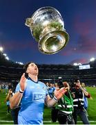 14 September 2019; Michael Darragh Macauley of Dublin celebrates with the Sam Maguire Cup following GAA Football All-Ireland Senior Championship Final Replay between Dublin and Kerry at Croke Park in Dublin. Photo by Seb Daly/Sportsfile