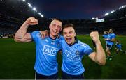 14 September 2019; Con O'Callaghan, left, and Eoin Murchan of Dublin celebrate following the GAA Football All-Ireland Senior Championship Final Replay match between Dublin and Kerry at Croke Park in Dublin. Photo by David Fitzgerald/Sportsfile