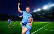 14 September 2019; Eoin Murchan of Dublin, top, and team-mate Paddy Small celebrate following the GAA Football All-Ireland Senior Championship Final Replay match between Dublin and Kerry at Croke Park in Dublin. Photo by David Fitzgerald/Sportsfile