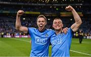 14 September 2019; Dean Rock, left, and Con O'Callaghan of Dublin celebrate following the GAA Football All-Ireland Senior Championship Final Replay match between Dublin and Kerry at Croke Park in Dublin. Photo by Sam Barnes/Sportsfile