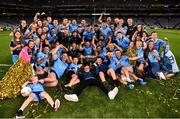 14 September 2019; Dublin players and supporters celebrate with the Sam Magure Cup following the GAA Football All-Ireland Senior Championship Final Replay match between Dublin and Kerry at Croke Park in Dublin. Photo by Sam Barnes/Sportsfile