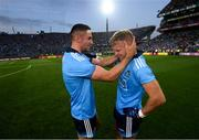 14 September 2019; James McCarthy, left, and Jonny Cooper of Dublin following the GAA Football All-Ireland Senior Championship Final Replay between Dublin and Kerry at Croke Park in Dublin. Photo by Stephen McCarthy/Sportsfile