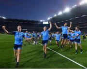 14 September 2019; Dublin players celebrate following the GAA Football All-Ireland Senior Championship Final Replay between Dublin and Kerry at Croke Park in Dublin. Photo by Stephen McCarthy/Sportsfile