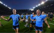 14 September 2019; Brian Fenton, left, and Ciarán Kilkenny of Dublin celebrate following the GAA Football All-Ireland Senior Championship Final Replay between Dublin and Kerry at Croke Park in Dublin. Photo by Stephen McCarthy/Sportsfile