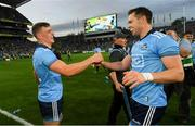 14 September 2019; Brian Howard, left, and Dean Rock of Dublin celebrate following the GAA Football All-Ireland Senior Championship Final Replay match between Dublin and Kerry at Croke Park in Dublin. Photo by Ramsey Cardy/Sportsfile