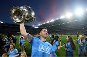 14 September 2019; Michael Darragh Macauley of Dublin celebrates with the Sam Maguire cup following the GAA Football All-Ireland Senior Championship Final Replay between Dublin and Kerry at Croke Park in Dublin. Photo by Stephen McCarthy/Sportsfile