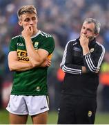 14 September 2019; Killian Spillane of Kerry, left, and manager Peter Keane following the GAA Football All-Ireland Senior Championship Final Replay match between Dublin and Kerry at Croke Park in Dublin. Photo by David Fitzgerald/Sportsfile