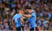 14 September 2019; David Byrne of Dublin, right, with team-mate Jonny Cooper following the GAA Football All-Ireland Senior Championship Final Replay match between Dublin and Kerry at Croke Park in Dublin. Photo by Eóin Noonan/Sportsfile