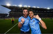 14 September 2019; Michael Darragh MacAuley, left, and Bernard Brogan celebrate following the GAA Football All-Ireland Senior Championship Final Replay match between Dublin and Kerry at Croke Park in Dublin. Photo by David Fitzgerald/Sportsfile