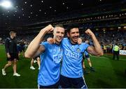 14 September 2019; Paul Mannion, left, and Cian O'Sullivan of Dublin celebrate following the GAA Football All-Ireland Senior Championship Final Replay between Dublin and Kerry at Croke Park in Dublin. Photo by Stephen McCarthy/Sportsfile