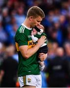 14 September 2019; Gavin Crowley of Kerry with his son Arlo following the GAA Football All-Ireland Senior Championship Final Replay match between Dublin and Kerry at Croke Park in Dublin. Photo by David Fitzgerald/Sportsfile