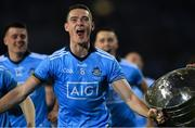 14 September 2019; Brian Fenton of Dublin brings the Sam Maguire Cup to Hill 16 after the GAA Football All-Ireland Senior Championship Final Replay between Dublin and Kerry at Croke Park in Dublin. Photo by Piaras Ó Mídheach/Sportsfile
