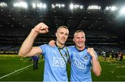 14 September 2019; Paul Mannion, left, and Ciarán Kilkenny celebrate following the GAA Football All-Ireland Senior Championship Final Replay match between Dublin and Kerry at Croke Park in Dublin. Photo by David Fitzgerald/Sportsfile