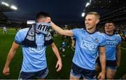 14 September 2019; Niall Scully, left, and Paul Mannion of Dublin celebrate following the GAA Football All-Ireland Senior Championship Final Replay match between Dublin and Kerry at Croke Park in Dublin. Photo by David Fitzgerald/Sportsfile